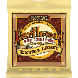 Ernie Ball 2006 10-50 Earthwood 80/20 Extra Light - struny do gitary akustycznej