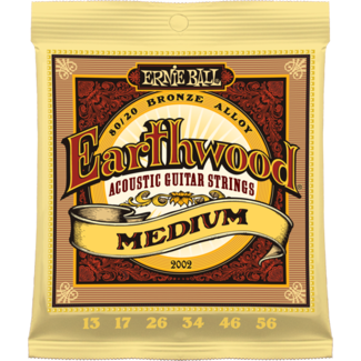 Ernie Ball 2002 13-56 Earthwood 80/20 Medium - struny do gitary akustycznej